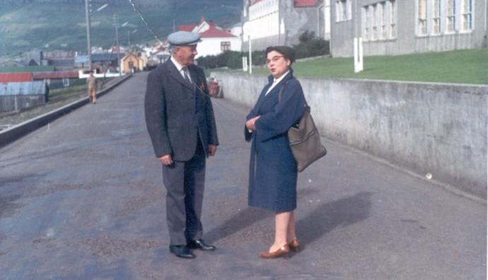 Johan Djurhuus og Mathilda Mikkelsen