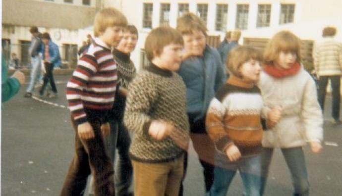 Á skúlalagnum í 1980unum