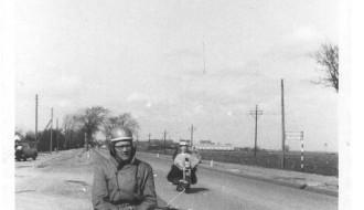 Páll Jacobsen á motorsúklu