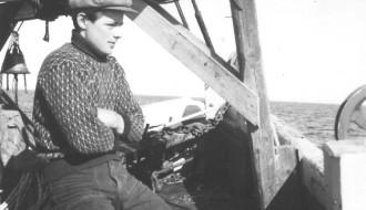 Danjal Petur Thorsteinsson umborð á Elin 1958/1959