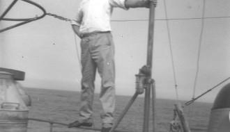 Asmund Magnussen umborð á Vágbingi