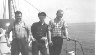 Pauli, Bent, og Magnus umborð á Vágbingi