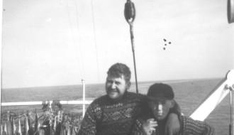 Pauli og x umborð á Vágbingi