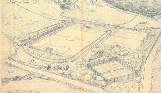 Skitsuuppskot til Vágs Stadion í 1955