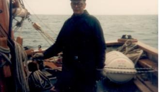 Við Johannu TG 326 í Grimsby í 1988