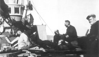 Umborð á Johannu í 1961