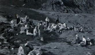 Sunnudagsskúla-útferð á Ryskivatni í 1958