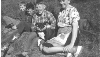 Edvard Hjalt, Kaj Tausen, Preben Gudmundsson og Anna Gudmundsson