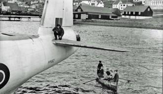 RAF Shorts Sunderland á Vági í 1946